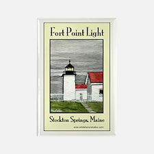 Fort Point Light Rectangle Magnet