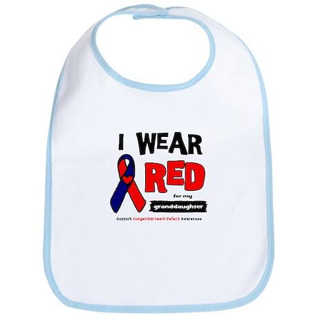 I wear red for my granddaughter Bib