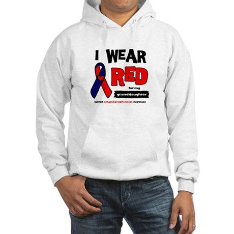 I wear red for my granddaughter Hooded Sweatshirt