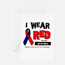 I wear red for my grandpa Greeting Cards (Pk of 20