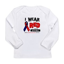 I wear red for my grandpa Long Sleeve Infant T-Shi