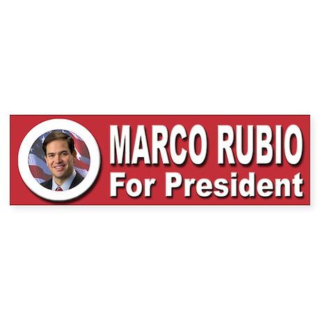 Marco Rubio for President Sticker (Bumper)