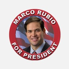 "Marco Rubio for President 3.5"" Button"