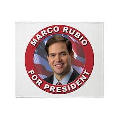 Marco Rubio for President Throw Blanket