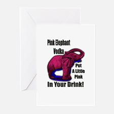 Pink Elephant Vodka Greeting Cards (Pk of 10)