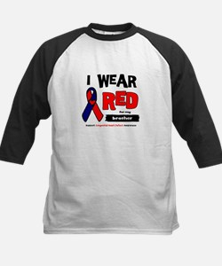I wear red for my brother Kids Baseball Jersey