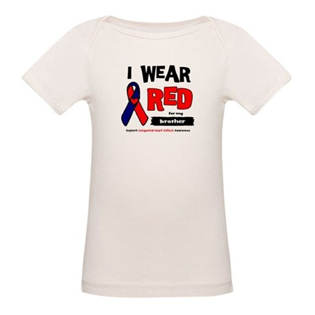 I wear red for my brother Organic Baby T-Shirt