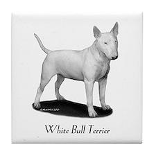 White Bull Terrier Tile Coaster