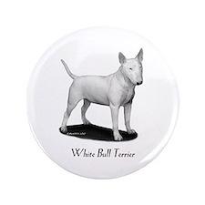 """White Bull Terrier 3.5"""" Button"""