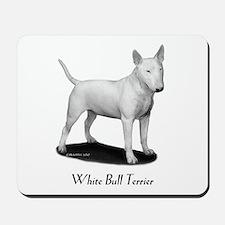 White Bull Terrier Mousepad
