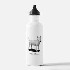 White Bull Terrier Water Bottle