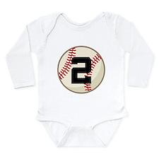 Baseball Player Number 2 Team Long Sleeve Infant B