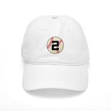 Baseball Player Number 2 Team Baseball Cap