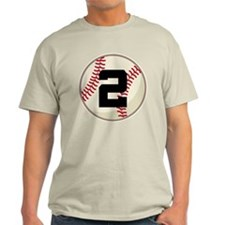 Baseball Player Number 2 Team T-Shirt