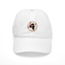 Baseball Player Number 4 Team Baseball Cap
