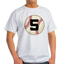Baseball Player Number 5 Team T-Shirt