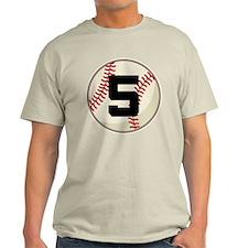 Baseball Player Number 5 Team T-Shirt
