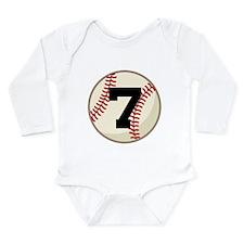 Baseball Player Number 7 Team Long Sleeve Infant B