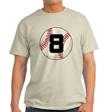 Baseball Player Number 8 Team T-Shirt