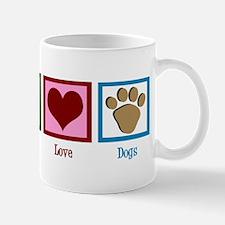 Peace Love Dogs Mug