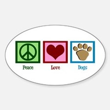 Peace Love Dogs Decal