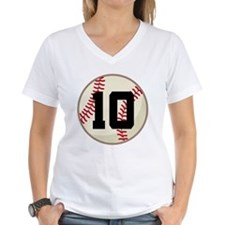 Baseball Player Number 10 Team Shirt