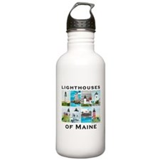 Lighthouses of Maine 2 Water Bottle