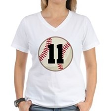 Baseball Player Number 11 Team Shirt