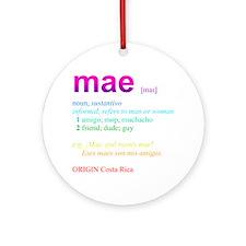 Mae Ornament (Round)