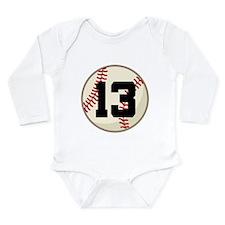 Baseball Player Number 13 Team Long Sleeve Infant