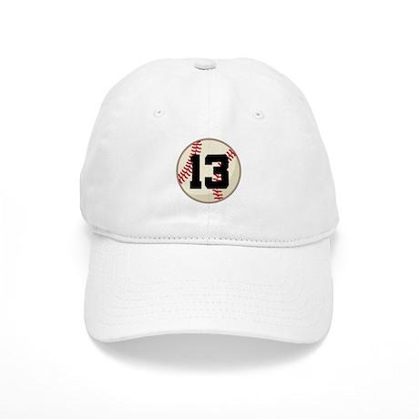 Baseball Player Number 13 Team Cap