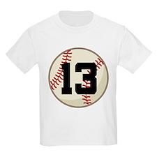 Baseball Player Number 13 Team T-Shirt