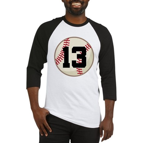 Baseball Player Number 13 Team Baseball Jersey