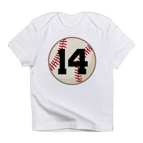 Baseball Player Number 14 Team Infant T-Shirt