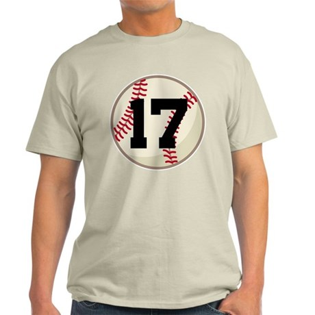 Baseball Player Number 17 Team Light T-Shirt