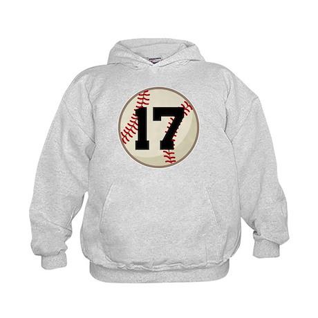 Baseball Player Number 17 Team Kids Hoodie