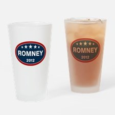 Romney 2012 [blue] Drinking Glass