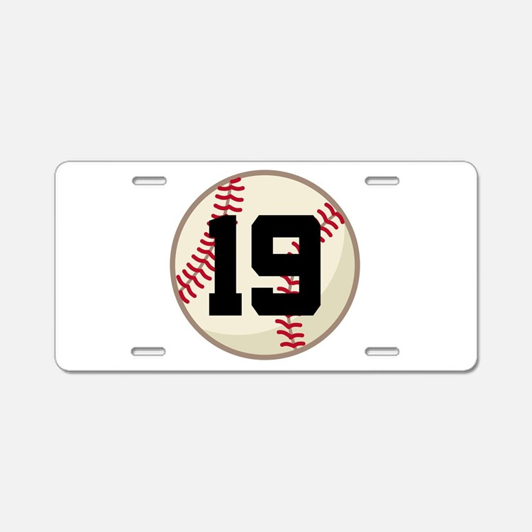 Baseball Player Number 19 Team Aluminum License Pl