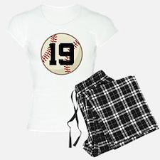 Baseball Player Number 19 Team Pajamas