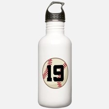 Baseball Player Number 19 Team Sports Water Bottle