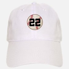 Baseball Player Number 22 Team Baseball Baseball Cap