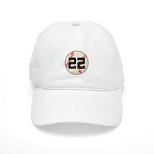 Baseball Player Number 22 Team Baseball Cap