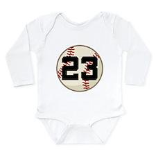 Baseball Player Number 23 Team Long Sleeve Infant