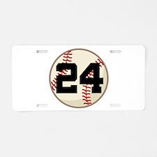 Baseball Player Number 24 Team Aluminum License Pl