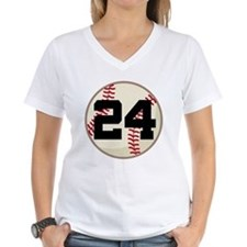 Baseball Player Number 24 Team Shirt