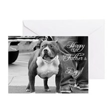 Father's Day Staffordshire Terrier Greeting Card