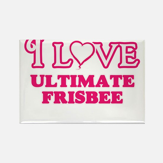 I Love Ultimate Frisbee Magnets