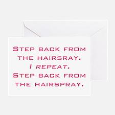hairspray Greeting Card