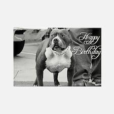 Happy Birthday Staffordshire Rectangle Magnet (10