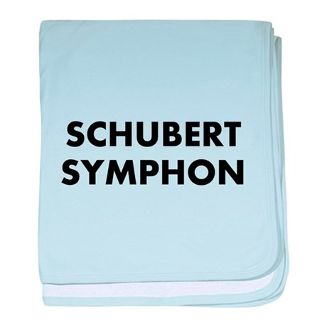 Schubert's Unfinished Symphon baby blanket